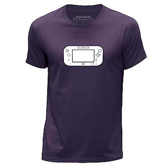 STUFF4 Men's Round Neck T-Shirt/Gaming/Wii U Controller/Purple