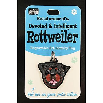 Wags & Whiskers Pet Identity Tag - Rottweiler