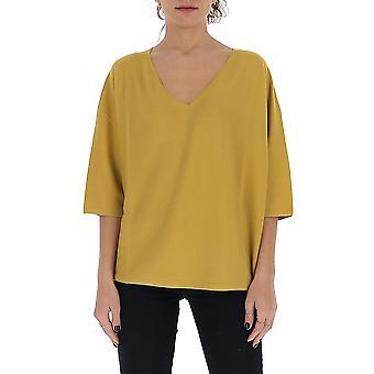 Gentry Portofino D608cog1112 Women's Yellow Cotton Sweater