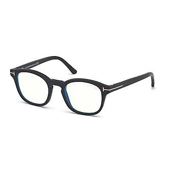 Tom Ford TF5532-B 02A Matte Black-Smoke Clipon Briller