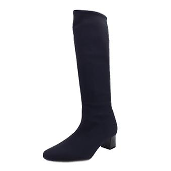 Peter Kaiser Oswana Pull On Stretch Knee High Boots In Navy