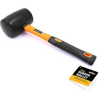 Milestone 32oz Fibreglass Shaft Rubber Camping Mallet Black