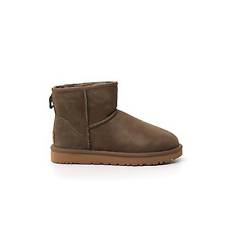 Ugg Ugsclmespr1016222w Women's Green Suede Ankle Boots
