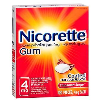 Nicorette stop smoking gum, 4 mg, cinnamon surge, 100 ea
