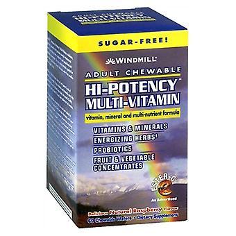 Windmill hi-potency multi-vitamin, wafers, raspberry, 60 ea