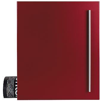 MOCAVI Box 110 Boîte aux lettres design avec compartiment de journal violet-rouge (RAL 3004)