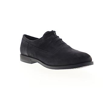 Camper Bowie  Womens Black Nubuck Leather Flats Oxfords Shoes