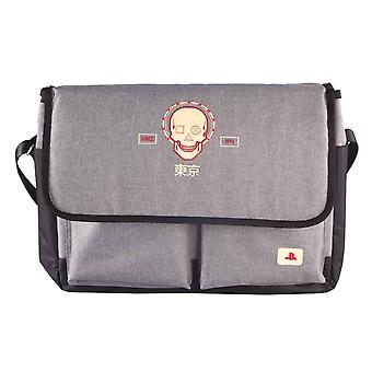 Playstation messenger Office Bag Japan Logo Puff Print Sony new Official Grey