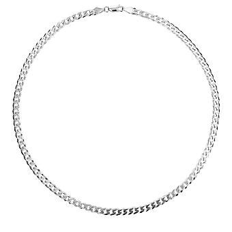 The Olivia Collection Sterling Silver Gents 12 Gram Flat 18 Inch Curb Necklace