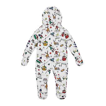 Dolce & Gabbana Padded Overall With Feet And Designers Print