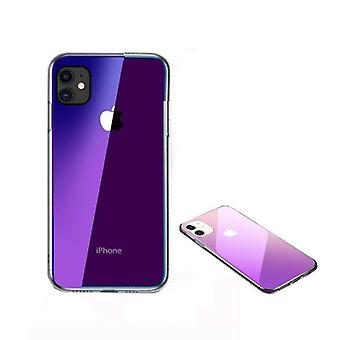 iPhone 11 Shell Transparant/Paars