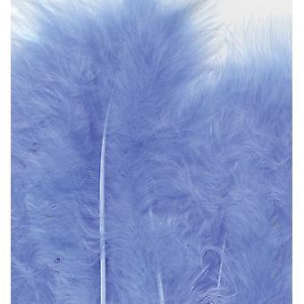 מרבו נוצות, כחול, 15pcs