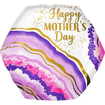Anagram Supershape Happy Mothers Day Geode Balloon