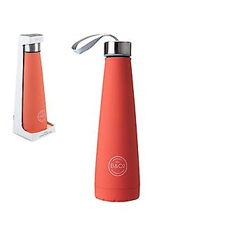B&Co 450ml Conical Bottle Living Coral