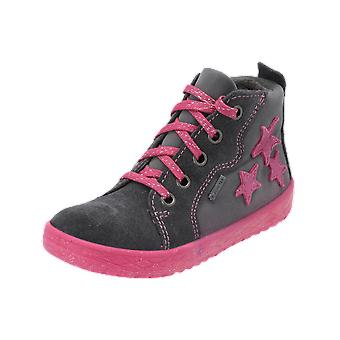 Superfit MERCURY Kids Girls Boots Grey Lace-Up Boots Winter