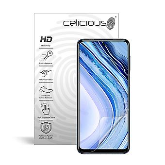 Celicious Vivid Invisible Glossy HD Screen Protector Film Compatible with Xiaomi Redmi Note 9S [Pack of 2]