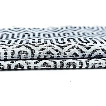 McAlister têxteis Costa Rica preto + branco cortinas