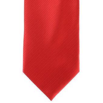 Michelsons Londyn zwykły żebra krawat poliestrowy - szkarłatna czerwień