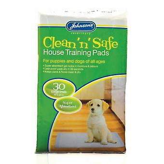 Johnsons Clean N Safe Large House Training Pads Pour chiens