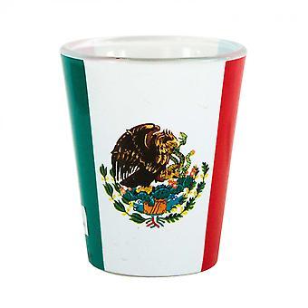 Mexikanska flaggan snapsglas