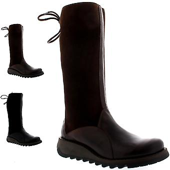Womens Fly London Sato Rug Mid Calf Fur Lined Winter Snow Warm Boots