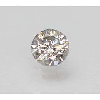 Cert 0.69 Carat Fancy Silver SI1 Round Brilliant Enhanced Natural Diamond 5.54mm