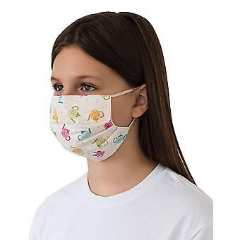 Mio ST3 Teapots Cream Cotton Face Mask with Removable Nose Wire