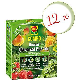 Sparset: 12 x COMPO Duaxo® Universal Mushroom-Free, 75 ml