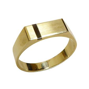14 carat yellow gold onyx seal ring