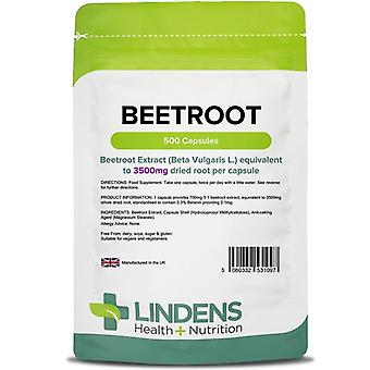 Lindens Beetroot 3500mg Capsules 500 (1097)