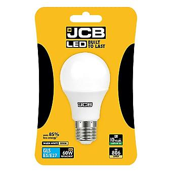 JCB LED A60 806lm Opal 10w Light Bulb E27 2700k