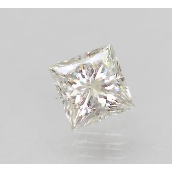 Certified 0.71 Carat F SI2 Princess Enhanced Natural Diamond 4.88x4.71mm 2VG