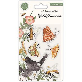 Craft Consortium At Home in the Wildflowers Clear Stamps Bees & Butterflies