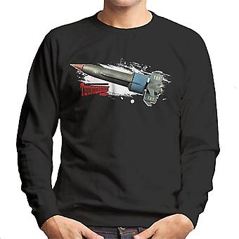 Thunderbirds Thunderbird 1 Splatter Effect Män's Sweatshirt