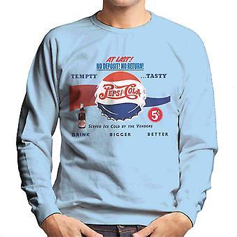 Pepsi Cola Retro Drink bigger bessere Männer's Sweatshirt