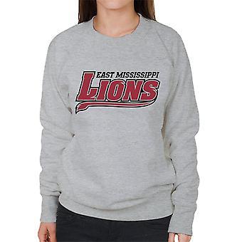 East Mississippi Community College Lions Dark Tail Logo Women's Sweatshirt