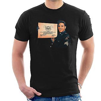 Camiseta Elvis Presley U.S. ejército certificado hombres