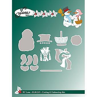 Par Lene Mr & Mme Snowman Cutting & Meurt en relief