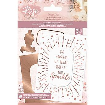 Crafter's Companion Rose Gold Foil Stamp 'N' Cut Die Sparkle Frame