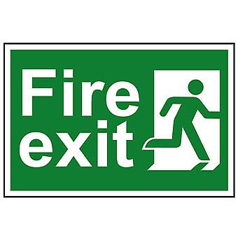 Scan Fire Exit Man Running Right - PVC 300 x 200mm SCA1507