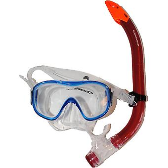 Masca de scufundare + snorkel jr Albastru/rosu