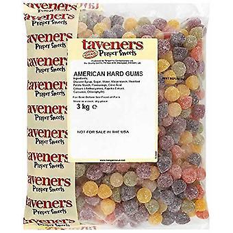 Taveners American Hard Gums Sweets 3kg