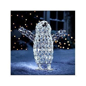Beaded Baby Penguin Indoor/Outdoor Christmas Light NW93Y