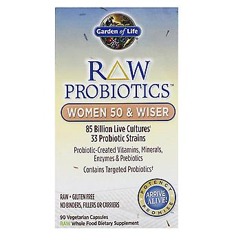 Garden of Life, RAW Probiotics, Women 50 & Wiser, 90 Vegetarian Capsules