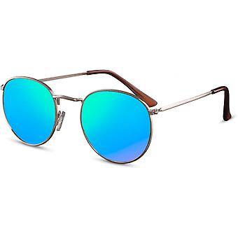 Sunglasses Unisex round gold/blue (CWI2155)