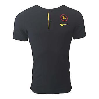 2020-2021 روما أصيلة قميص بولو (أسود)