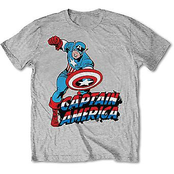 Marvel Comics Simple Captain America Official Tee T-Shirt Unisex