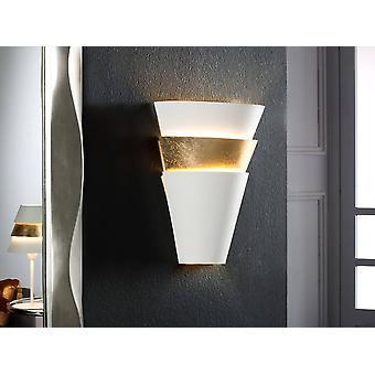 Wall Lamp Matt White, Gold, E14
