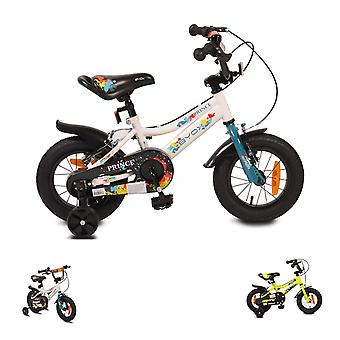 Byox Kids Bike 12 inch Prince, Sporty Design, Support Wheels, Chain Guard
