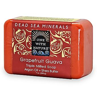 One With Nature Dead Sea Spa Grapefruit Guava Mineral Soap